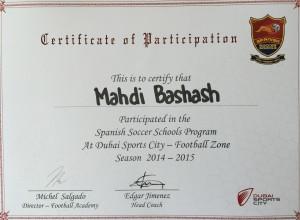 Spanish Soccer Schools Certification Dubai