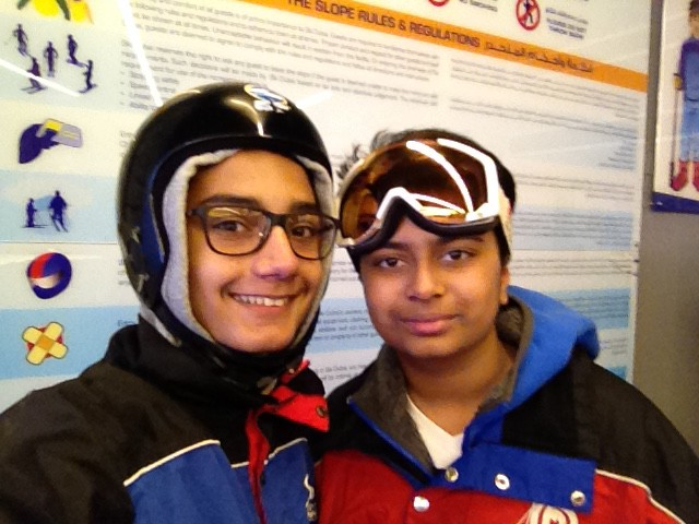 Ski dubai October 2015 Neil Mahdi